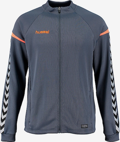 Hummel Sportsweatjacke 'AUTHENTIC' in grau / orange, Produktansicht