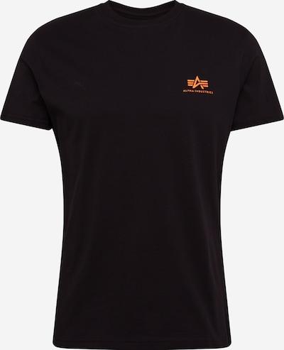neonnarancs / fekete ALPHA INDUSTRIES Póló 'Basic T Small Logo Neon Print', Termék nézet