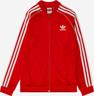 ADIDAS ORIGINALS Sweatjacke 'SUPERSTAR TOP' in rot / weiß, Produktansicht