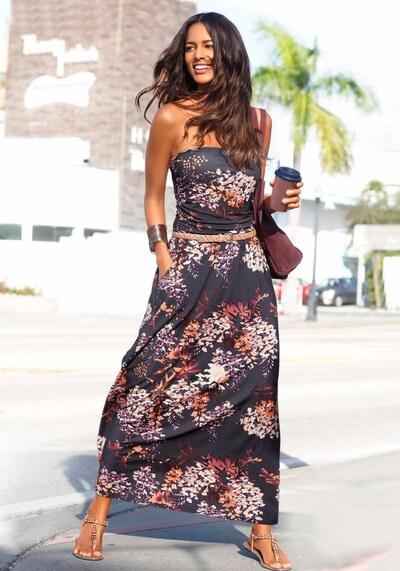 LASCANA Sukienka plażowa w kolorze mieszane kolory / czarnym, Podgląd na modelu(-ce)