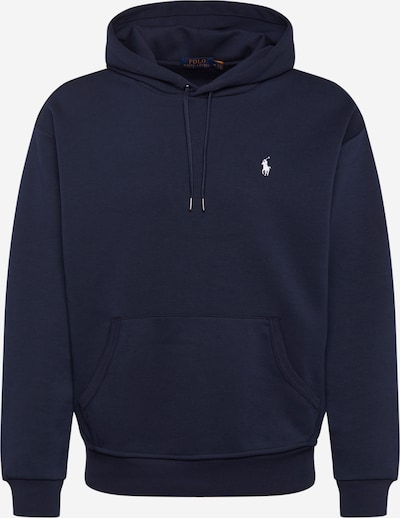 POLO RALPH LAUREN Sweatshirt 'LSPOHOODM7-LONG SLEEVE-KNIT' in navy / weiß, Produktansicht