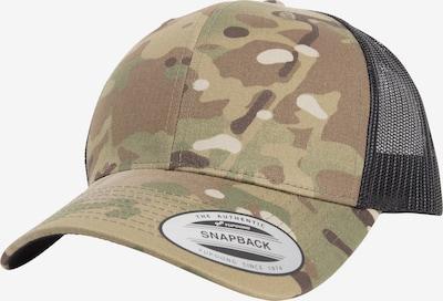 Flexfit Cap 'Retro Trucker Multicam®' in beige / camel / hellbeige / apfel, Produktansicht