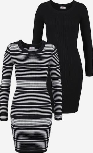 FLASHLIGHTS Strickkleid in grau / schwarz, Produktansicht