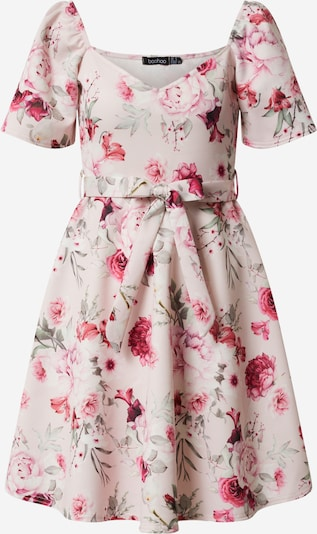 Boohoo Kleid 'SQUARE FLORAL' in rosa, Produktansicht