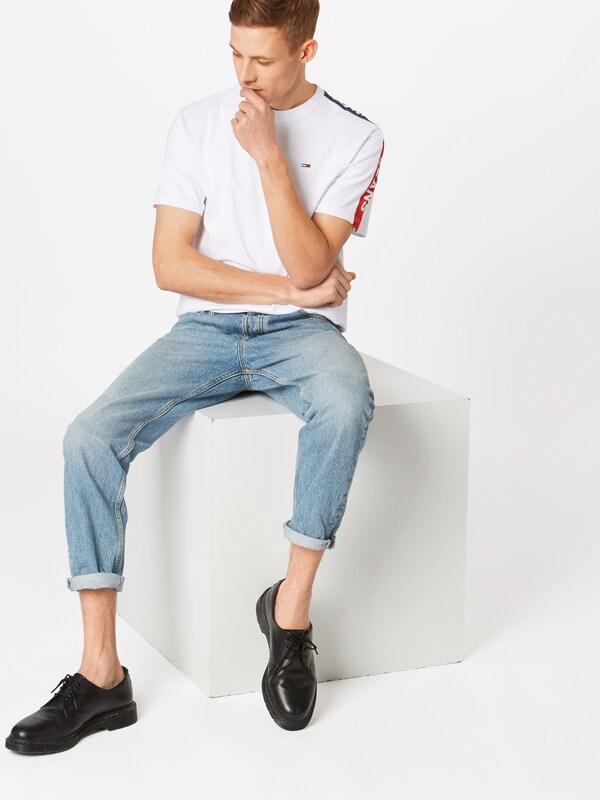 shirt T FoncéRouge Bleu En Tommy Jeans Blanc m0N8nw