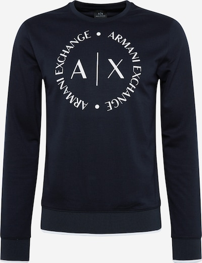 ARMANI EXCHANGE Sweater majica u noćno plava / prljavo bijela, Pregled proizvoda