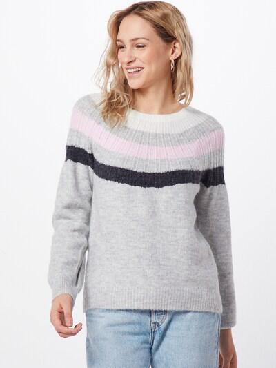 GAP Sweter 'V-GRAD YOKE PO' w kolorze jasnoszary / nakrapiany szarym: Widok z przodu
