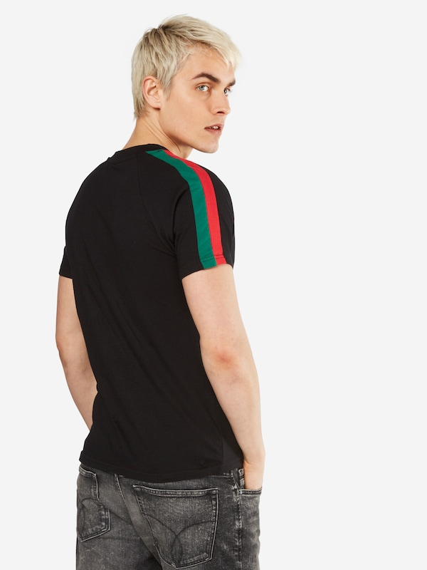 Urban Classics T-Shirt 'Stripe Shoulder Raglan Tee'