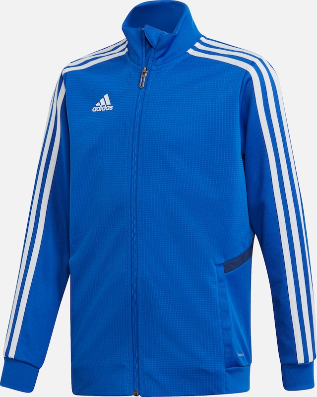 ADIDAS PERFORMANCE Trainingsjacke 'TIRO 19' in blau, Produktansicht