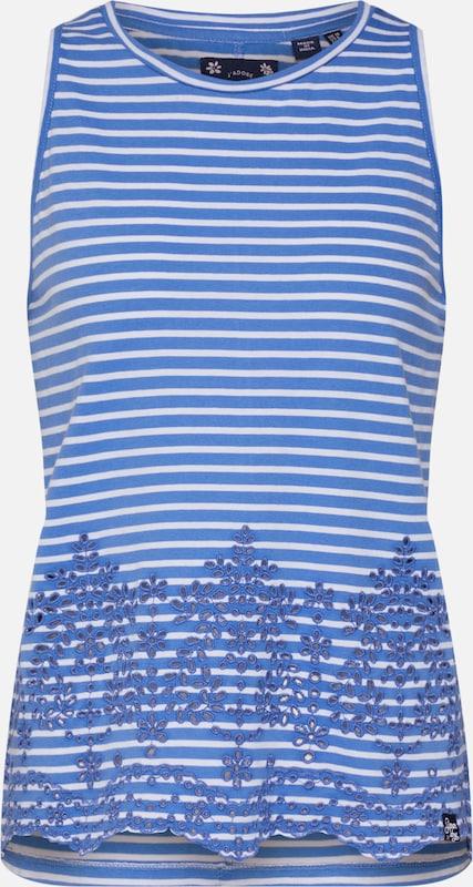 Broderie ClairBlanc Superdry Bleu En Haut 'lara Vest' TJKc3F1l