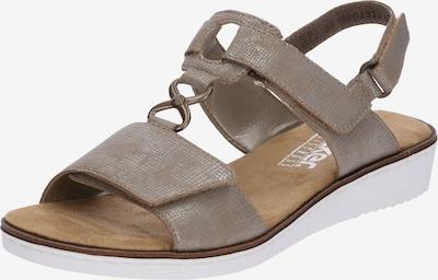 RIEKER Sandaal in de kleur Taupe: Vooraanzicht