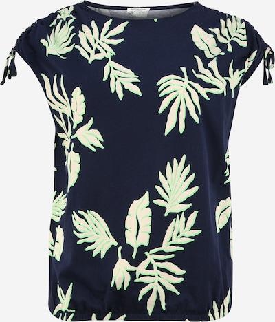 MY TRUE ME Shirt in navy / hellgrün, Produktansicht