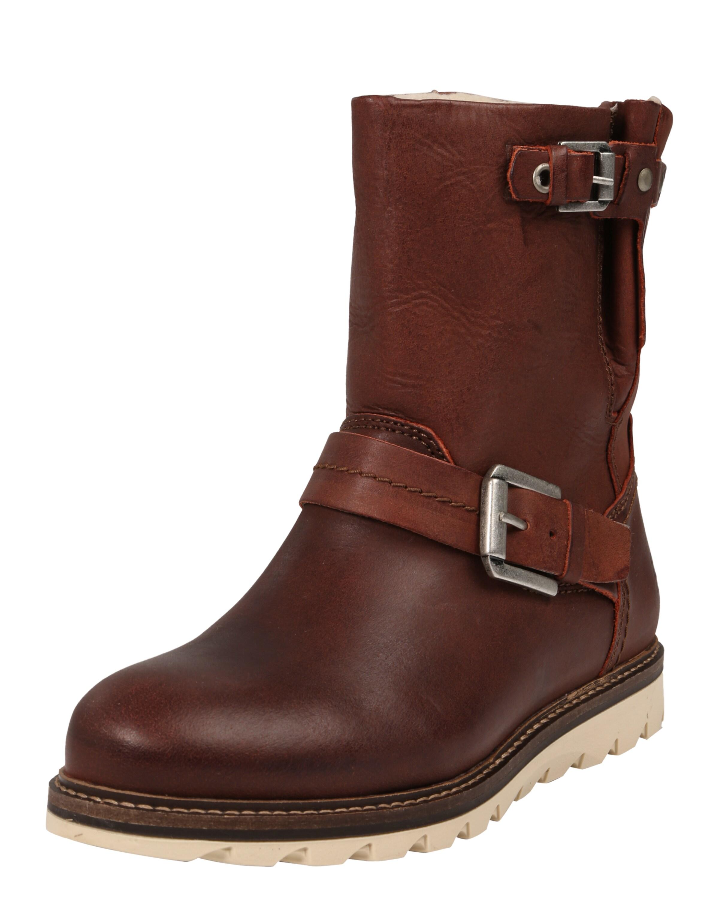 BULLBOXER Leder-Stiefel mit Schnallen Verschleißfeste billige Schuhe