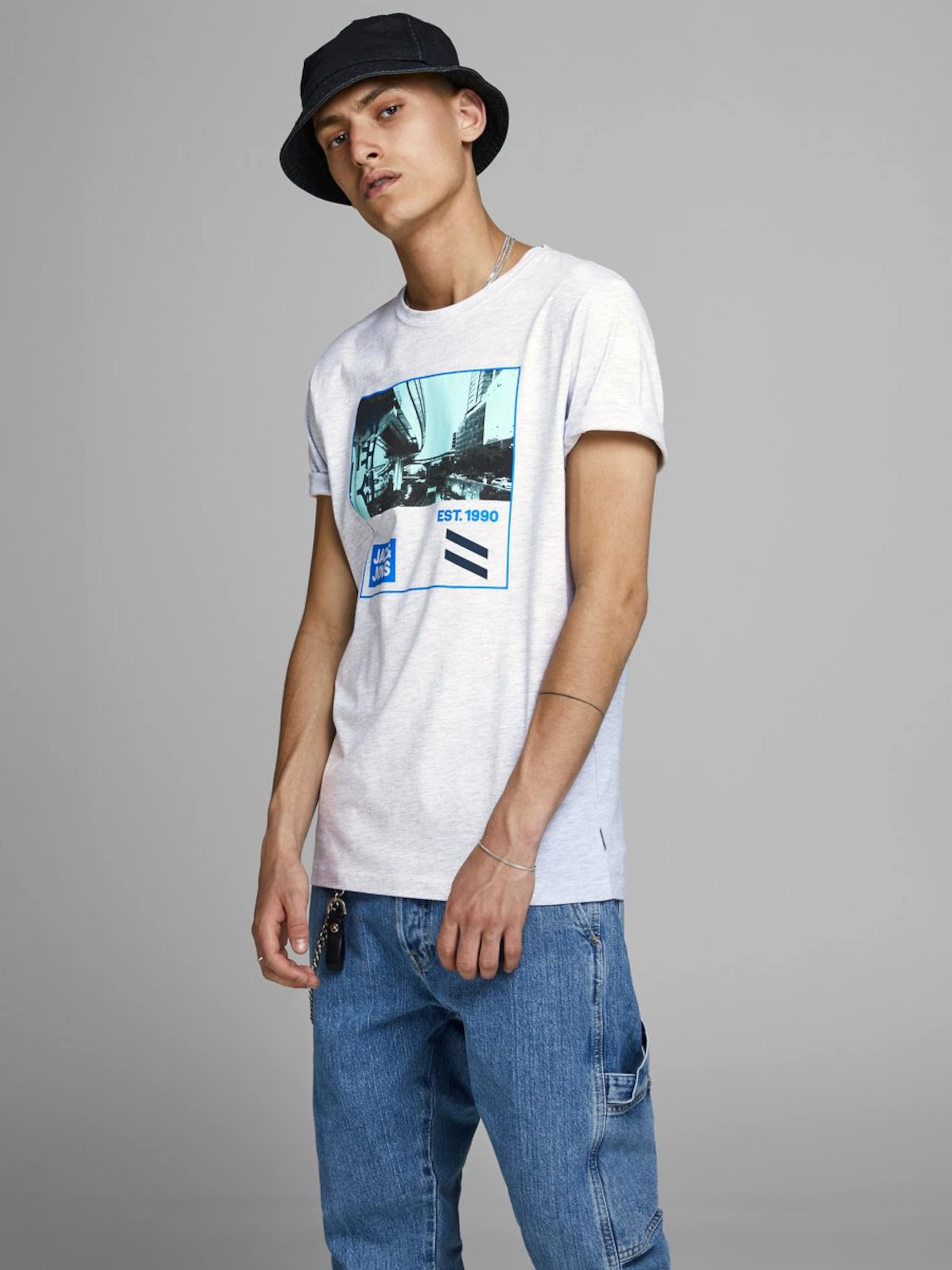 Jackamp; Chiné Jones shirt En Mélange T De CouleursBlanc zMVSUpqG