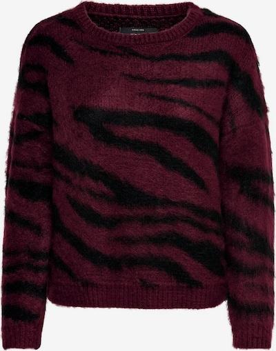 Megztinis 'RANJA'' iš ONLY , spalva - vyno raudona spalva / juoda: Vaizdas iš priekio