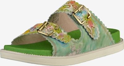 Laura Vita Pantoletten in grün, Produktansicht