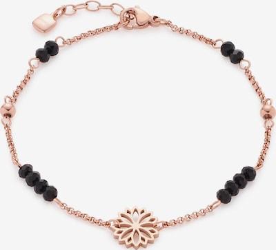 LEONARDO Armband in rosegold / schwarz, Produktansicht