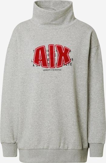 ARMANI EXCHANGE Sweater majica u siva / crvena, Pregled proizvoda