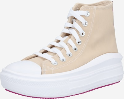 CONVERSE Sneakers hoog 'Chuck Taylor All Star Move' in de kleur Beige / Wit, Productweergave