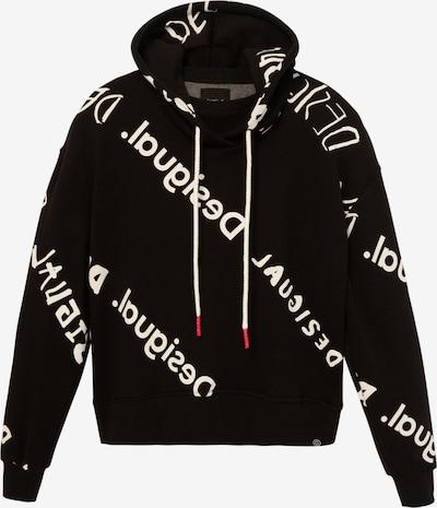 Desigual Sweat-shirt 'CHAD' en noir / blanc, Vue avec produit