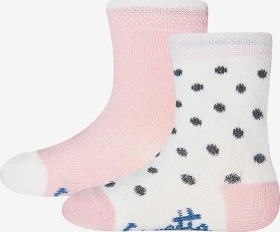 SANETTA Socken in rosa / weiß, Produktansicht