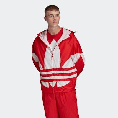 ADIDAS ORIGINALS Tussenjas in de kleur Rood / Wit: Vooraanzicht