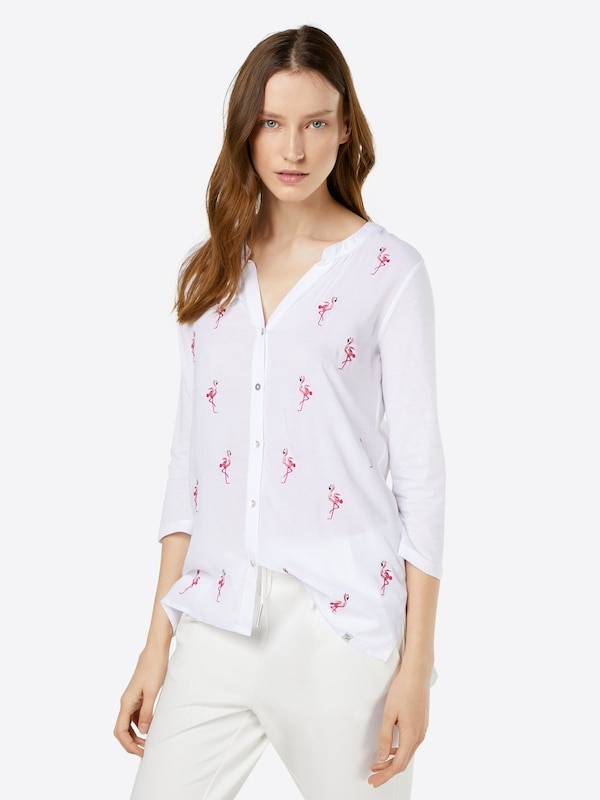 Key Largo Bluse mit Stitching