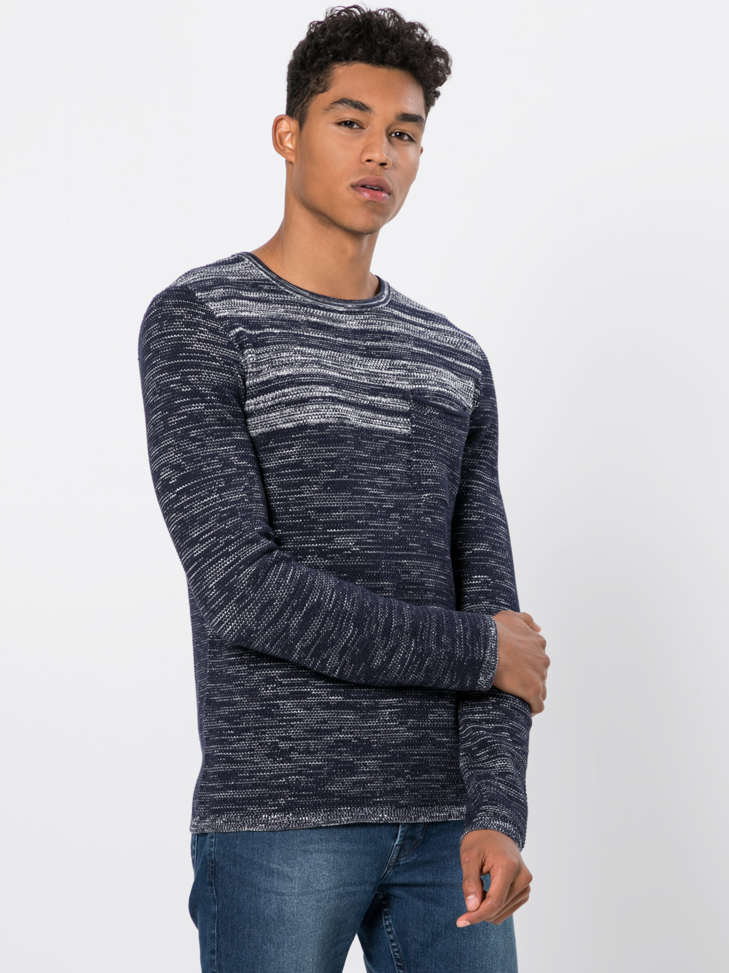 By s 'strickpullover' In Designed Q MarineOffwhite Pullover gvf7yYb6