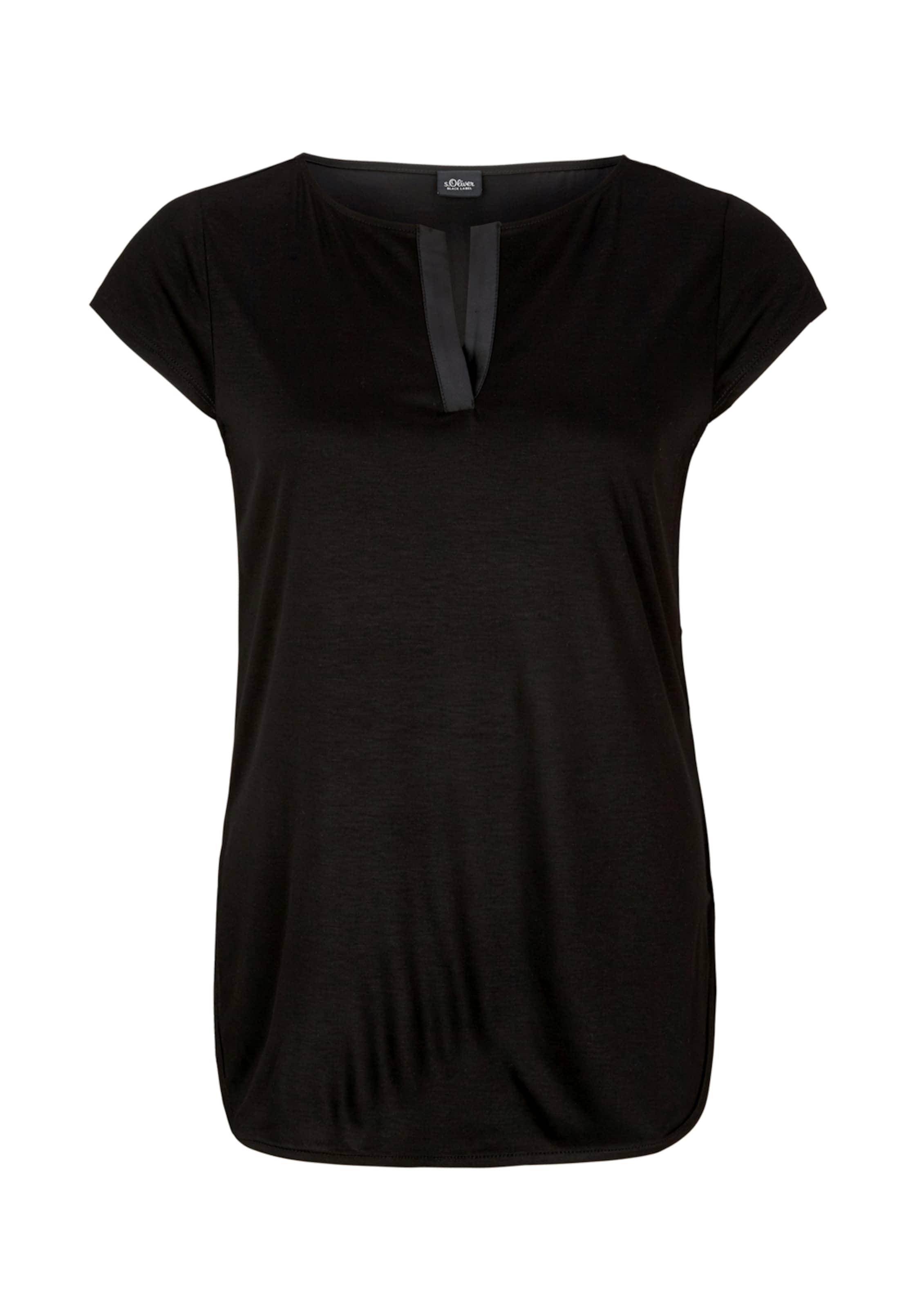 Longshirt oliver S Schwarz Black In Label jRqL5A34