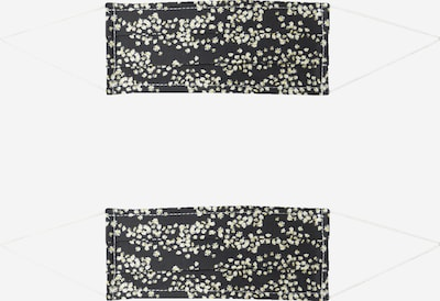 Mască de stofă '2er Pack Sternregen' Zwillingsherz pe negru / alb, Vizualizare produs