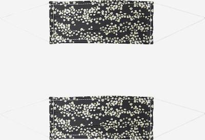 Zwillingsherz Masque en tissu '2er Pack Sternregen' en noir / blanc, Vue avec produit