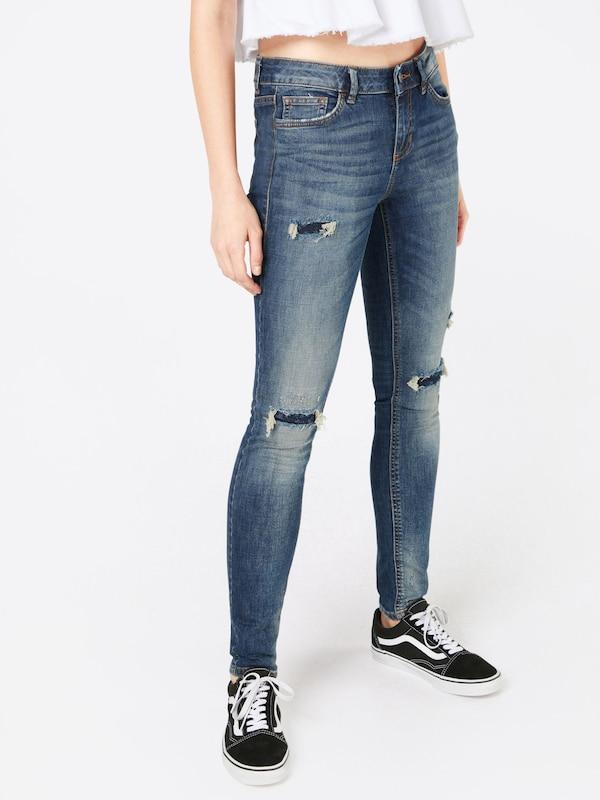 TOM TAILOR DENIM 'Jona Japanese Blue Distressed' Slimfit Jeans