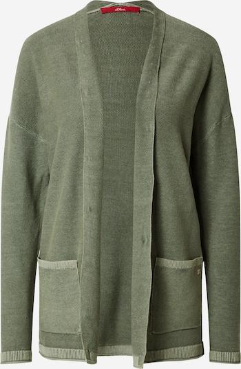 s.Oliver Cardigan in dunkelgrün, Produktansicht
