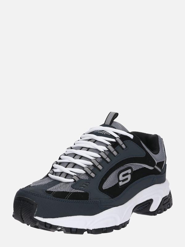 SKECHERS Sneakers laag 'STAMINA CUTBACK' in Zwart Wit