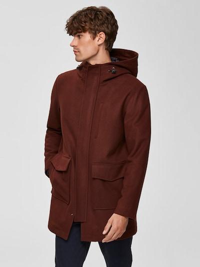 SELECTED HOMME Mantel in karamell, Modelansicht