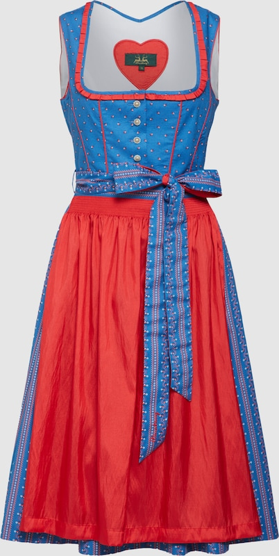 Wiesnkönig Wiesnkönig Wiesnkönig Dirndl 'Rosmarie' in blau   rot  Großer Rabatt b7729f