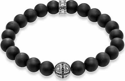 Thomas Sabo Armband in schwarz / silber, Produktansicht