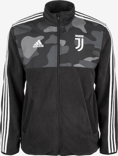 ADIDAS PERFORMANCE Veste en polaire fonctionnelle 'Juventus Turin' en gris / noir / blanc, Vue avec produit
