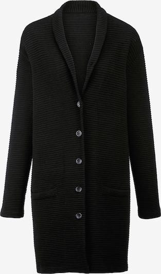 Emilia Lay Gebreide mantel in de kleur Zwart, Productweergave