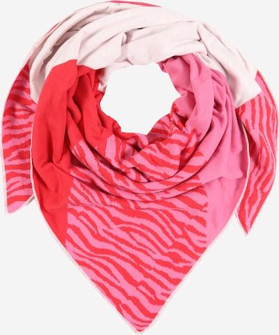 Zwillingsherz Tuch 'Ida' in pink / rot, Produktansicht