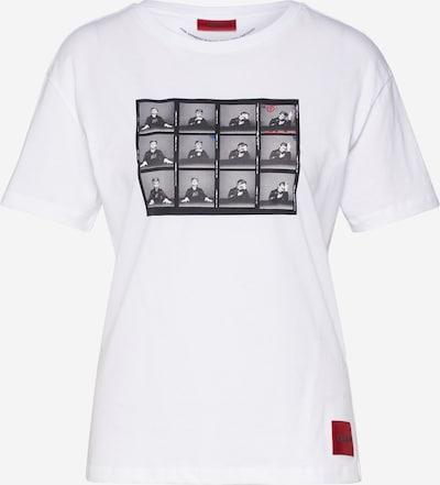HUGO Shirt 'Demali' in schwarz / weiß, Produktansicht