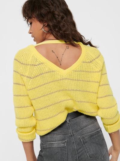 ONLY Pullover in braun / gelb, Produktansicht