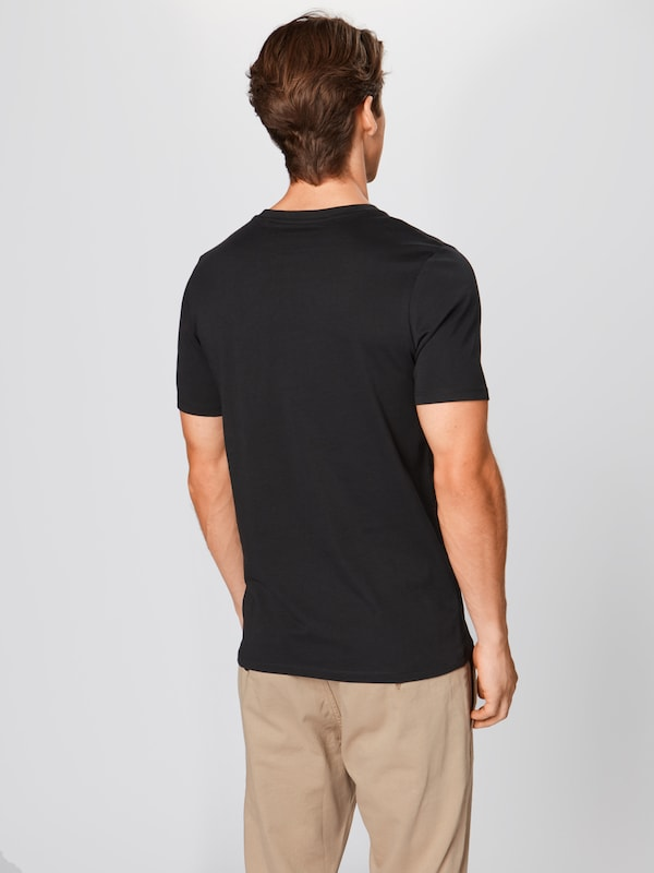 JACK & JONES T-Shirt 'Organic Basic Tee' in schwarz: Rückansicht