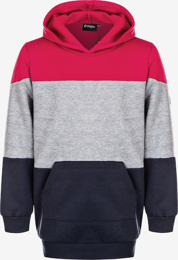 ZigZag Sweatshirt 'Kendara' in enzian / grau / grenadine, Produktansicht