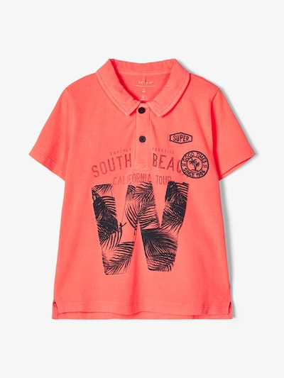 NAME IT Poloshirt in rot / schwarz, Produktansicht
