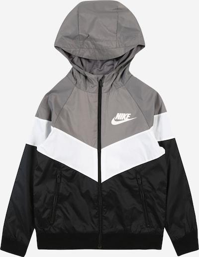 Nike Sportswear Jacke in kobaltblau / grau / weiß, Produktansicht