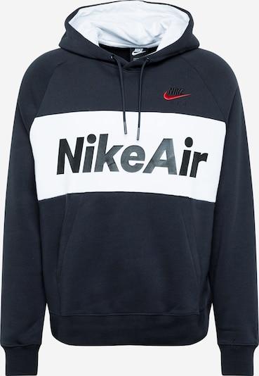 Bluză de molton 'AIR' Nike Sportswear pe negru / alb, Vizualizare produs