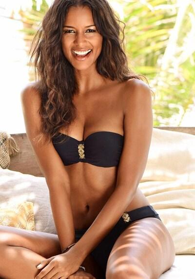 LASCANA Bikinitop 'Ella' in de kleur Zwart, Modelweergave