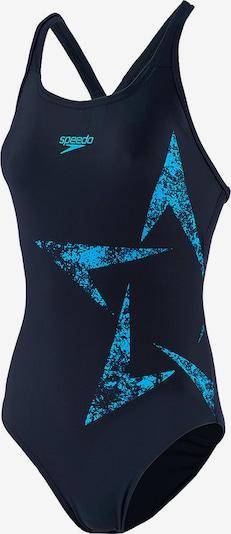SPEEDO Badeanzug in nachtblau / neonblau, Produktansicht