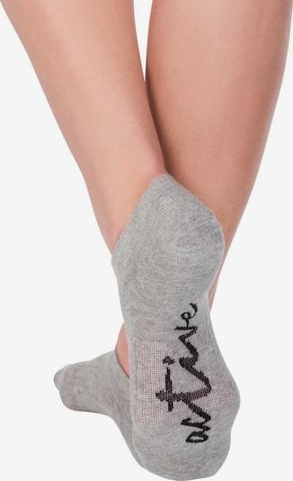 LASCANA ACTIVE Socken in graumeliert / schwarz / weiß, Produktansicht